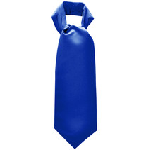 New Men's 100% Polyester solid Ascot Cravat Only Wedding Prom  Royal Blue - $12.50