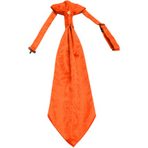 New 100% Polyester Men's Paisley Ascot Cravat Only Wedding Prom formal  Orange - $12.50