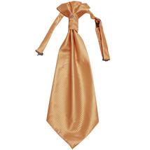 New 100% Polyester Men's Horizontal Stripes Ascot Cravat Only Prom  Beige - $12.50