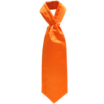 New Men's 100% Polyester solid Ascot Cravat Only Wedding Prom  Orange - $12.50