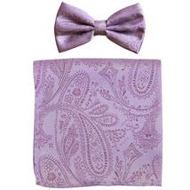 New formal men's pre tied Bow tie & hankie set ... - $8.75