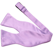 New Men's 100% Polyester Solid Formal Self-tied Bow Tie Only  Lavender - $9.99