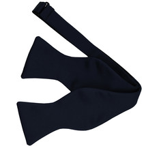 New Men's 100% Polyester Solid Formal Self-tied Bow Tie Only  Navy - $9.99