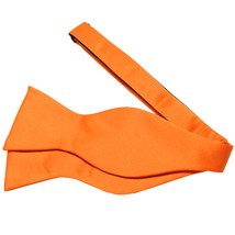 New Men's 100% Polyester Solid Formal Self-tied Bow Tie Only  Orange - $9.99