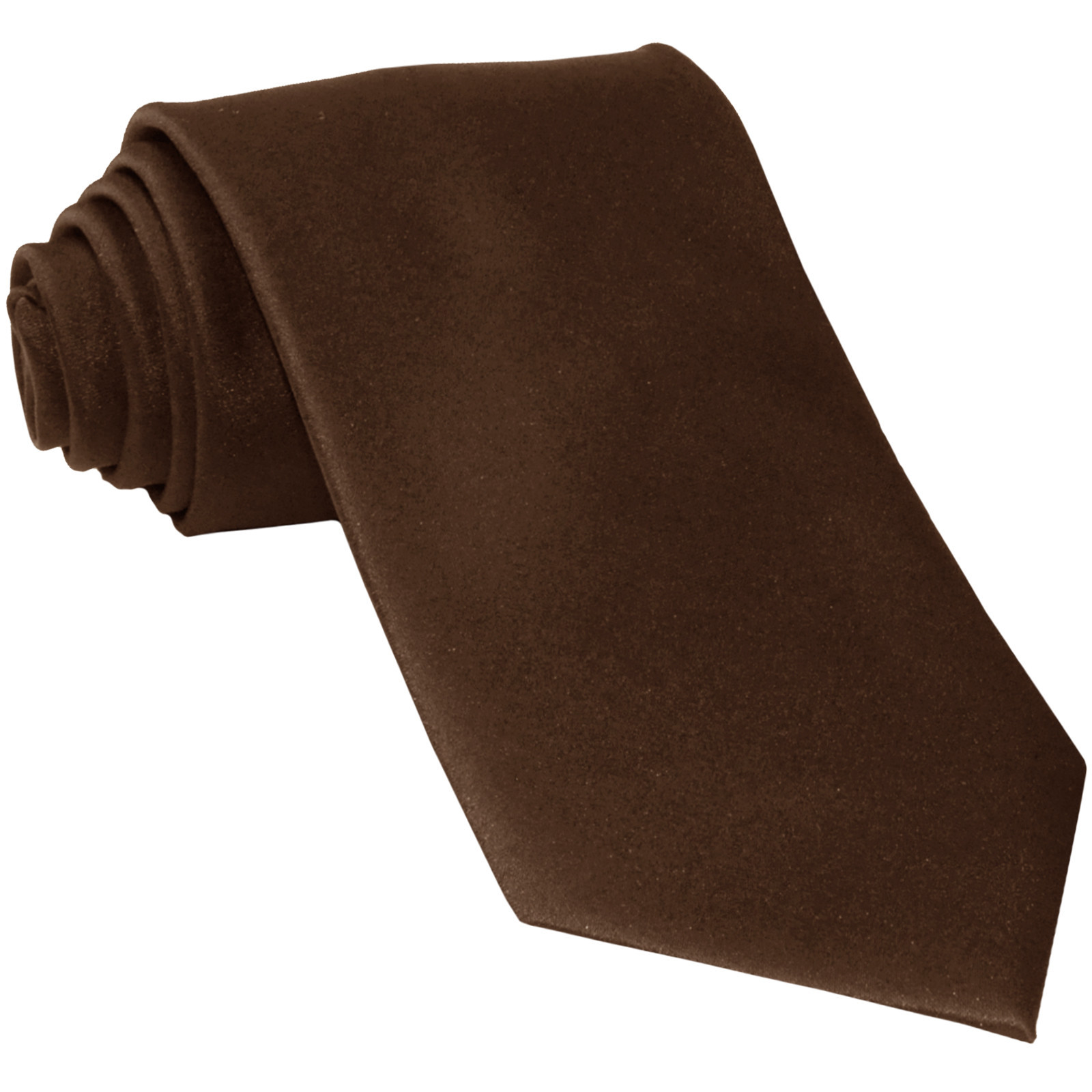 New Polyester Men's Neck Tie only solid formal wedding prom party work  Brown