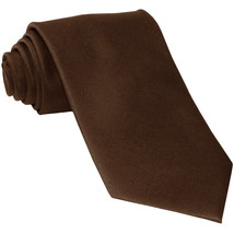 New Polyester Men's Neck Tie only solid formal wedding prom party work  Brown - $6.50