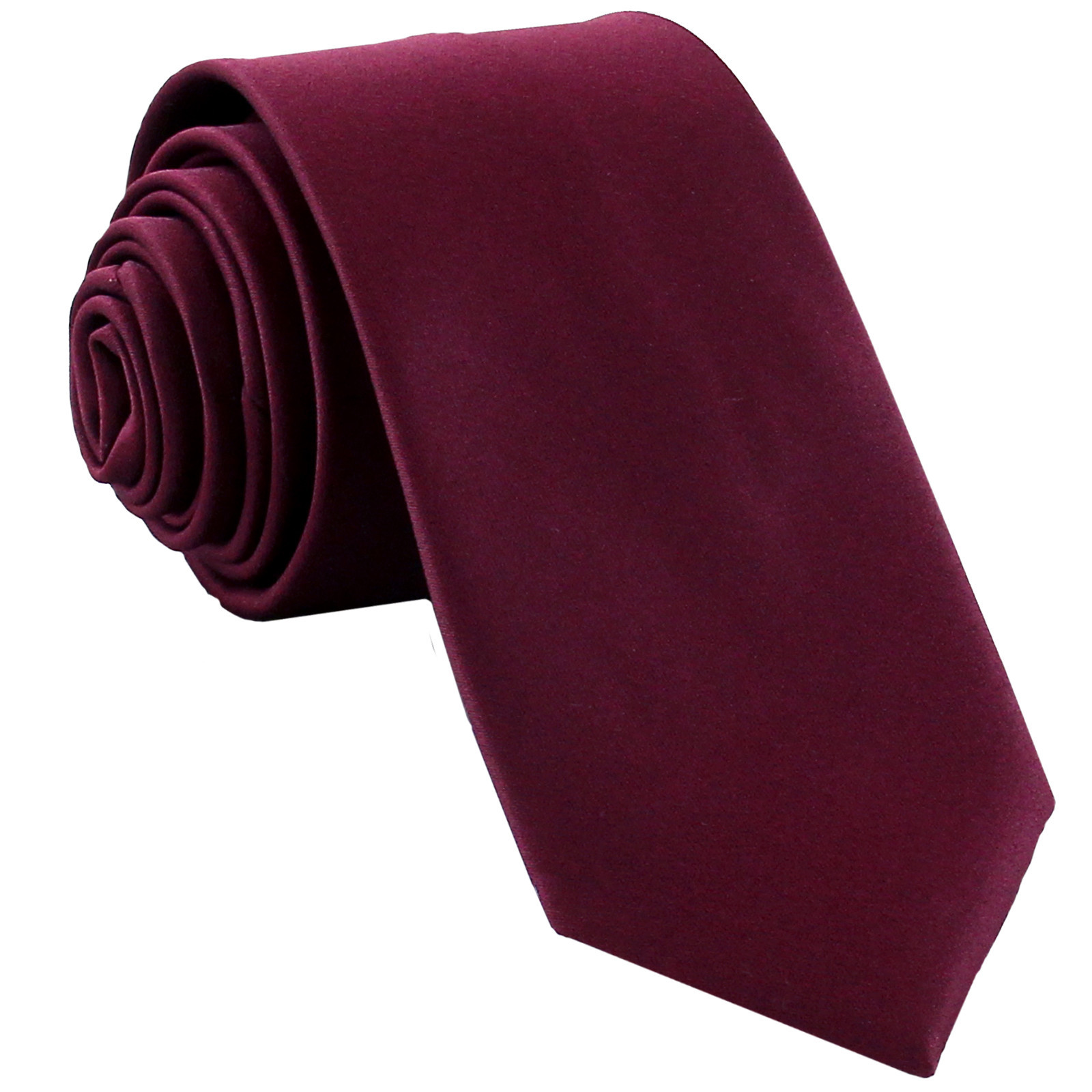 New Polyester Men's Neck Tie only solid formal wedding prom party work  Eggplant