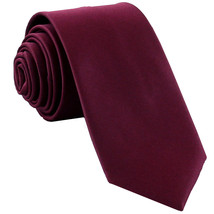 New Polyester Men's Neck Tie only solid formal wedding prom party work  Eggplant - $6.50
