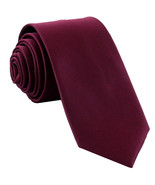 New Polyester Men's Neck Tie only solid formal wedding prom party work  ... - $6.50