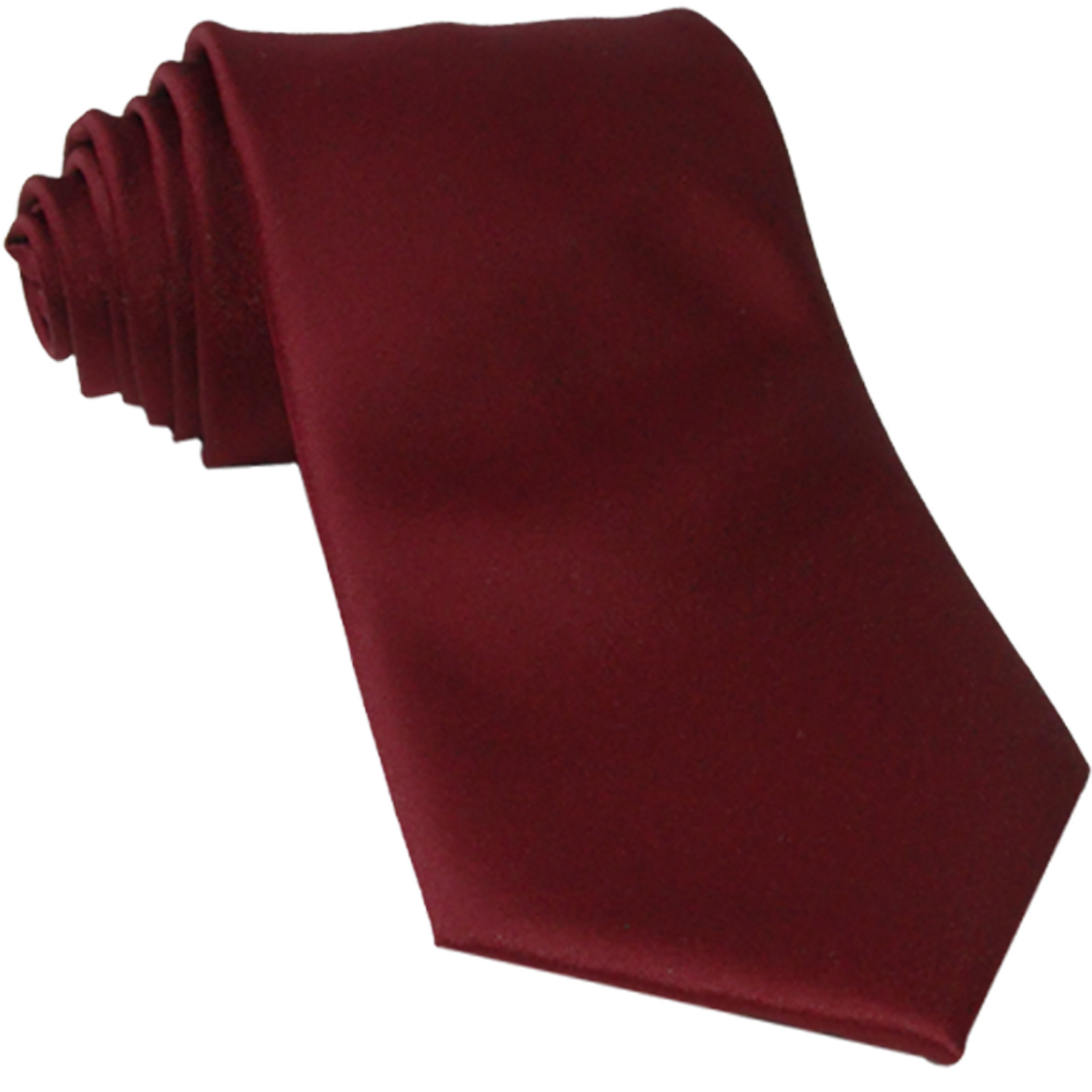 New Polyester Men's Neck Tie only solid formal wedding prom party work  Burgundy