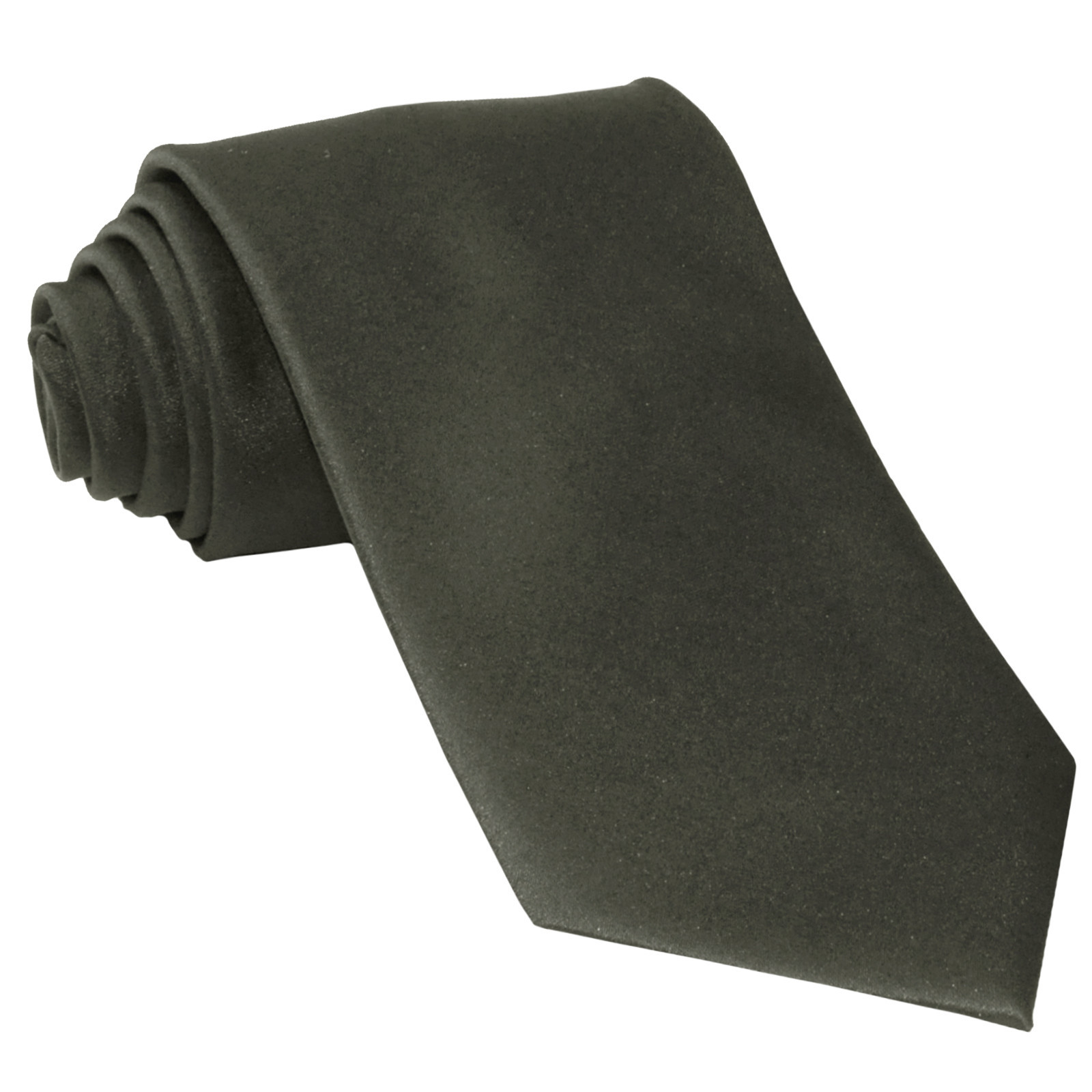 New Polyester Men's Neck Tie only solid formal prom party work  Dark Gray