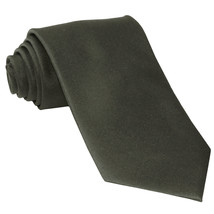 New Polyester Men's Neck Tie only solid formal prom party work  Dark Gray - $6.50