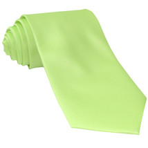 New Polyester Men's Neck Tie only solid formal prom party work  Lime Green - $6.50
