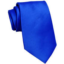 New Polyester Men's Neck Tie only solid formal prom party work  Royal Blue - $6.50