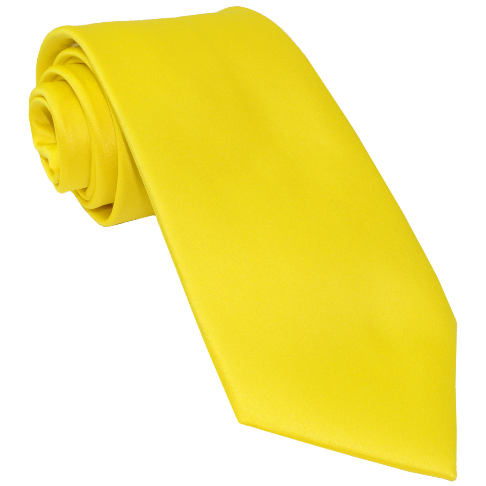 New Polyester Men's Neck Tie only solid formal wedding prom party work  Yellow