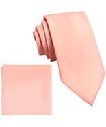 "New Polyester Men's 2.5"" skinny Neck Tie & hankie set solid formal  Mist... - $8.75"