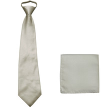 New Polyester Men's pre tied neck tie & hankie solid formal wedding prom... - $9.75