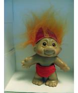 1986 Dam Orange Hair Devil Troll Doll - $12.00
