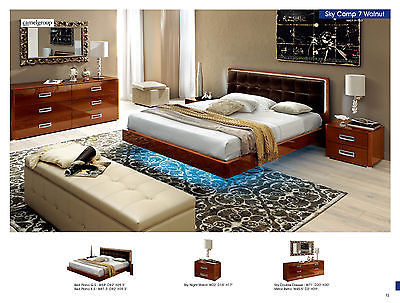 ESF Sky Bedroom Set Queen 5 Piece Bed Modern Contemporary Made in Italy