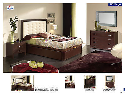 ESF 515 Bedroom Set Twin 5 Piece Bed Wenge Modern Contemporary Made in Spain