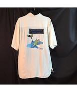 Bobby Chan Tropical Bar Hawaiian Shirt Embroidered 19th Hole Martini Coc... - $64.35