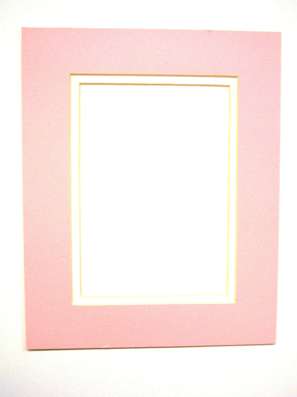 Primary image for Picture Mat Double Mat 11x14 for 8x10 photo Baby Girl Pink with White Matting