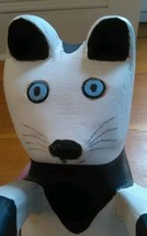 "Nova Scotian Folk Art Wood Carving by Gerard Deveaux ""Cat with Spots""  - $39.59"