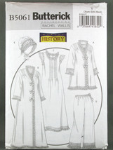 Butterick 5061 JACKET ROBE NIGHTGOWN PANTS HAT ... - $16.99