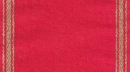 "27ct Pyramid Red/Gold banding 5.9""w x 18"" 100% linen (1/2yd) Mill Hill - $9.90"