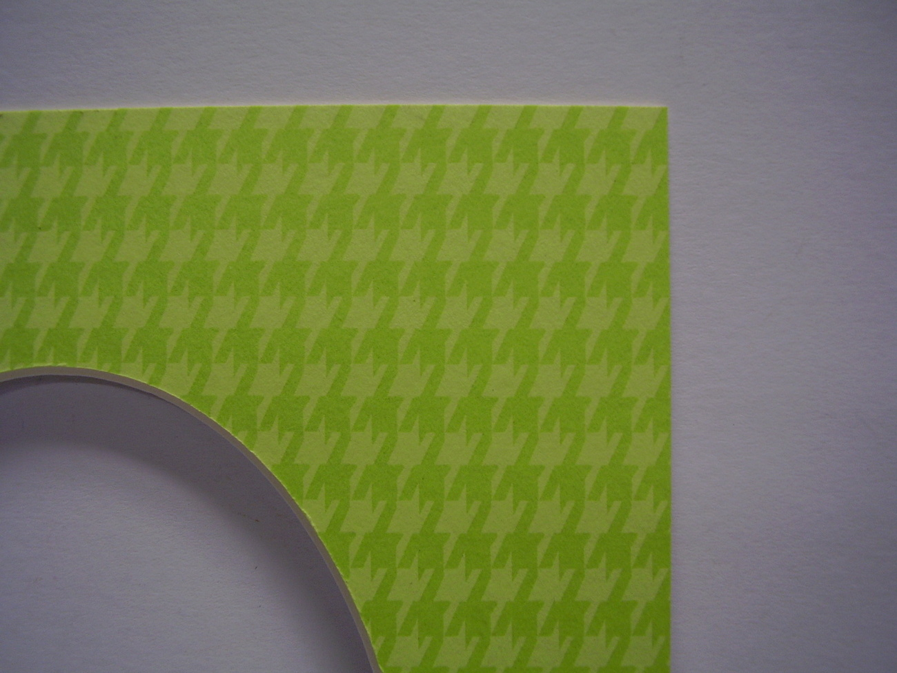 Primary image for Picture Mat for framing 8x10 for 5x7 photo Lime Green and Spring  Houndstooth