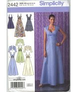 Simplicity 2442 Misses' Dress in Three Lengths with bodice Variations an... - $2.00