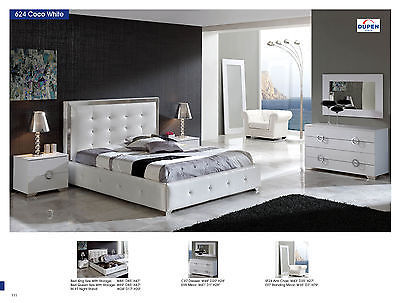 ESF Coco Bedroom Set Queen Storage Bed Modern Contemporary Made in Spain