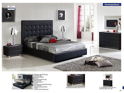 ESF Penelope 622 Bedroom Set King Storage Bed Modern Contemporary Made in Spain