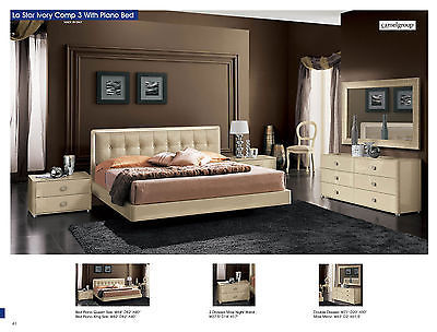 ESF La Star Beige Plano King Bed Modern Contemporary Made in Italy