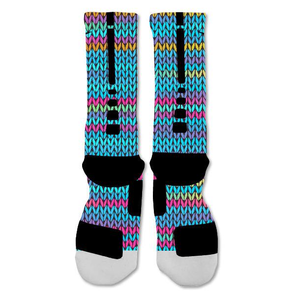 "Nike Elite socks custom Colorful Knit ""Fast Shipping"""