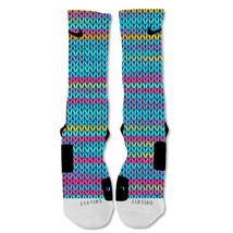 "Nike Elite socks custom Colorful Knit ""Fast Shipping"" - $24.99"