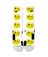"Nike Elite socks custom Emoji Wink ""Fast Shipping"" - $24.99"
