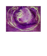 Quest of the Violet Moon Painting 22 x 30 Abstr... - $295.95