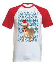 Chihuahua Christmas Santa P - COTTON BASEBALL TSHIRT ALL SIZES - $19.53