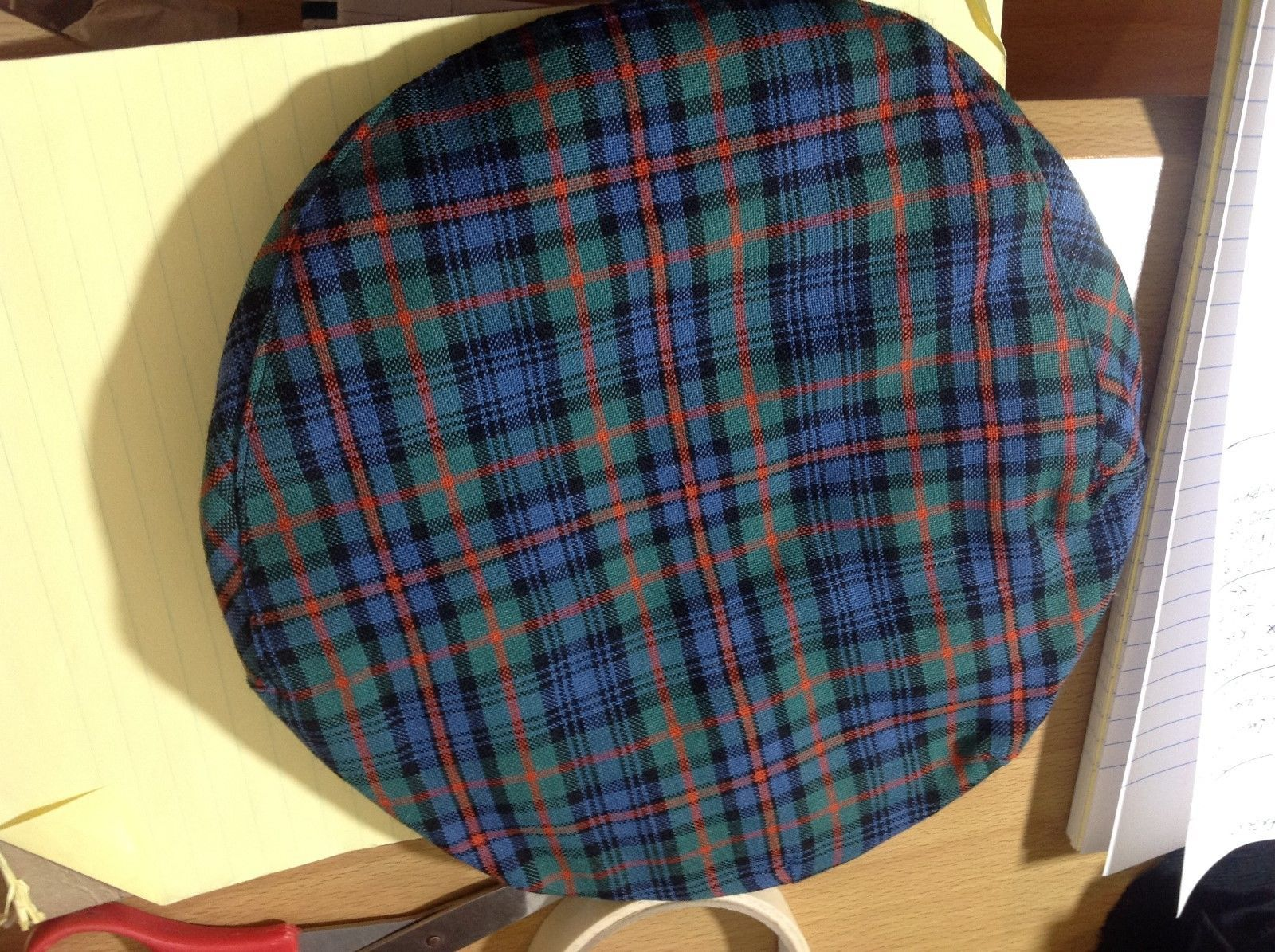 Highlander by Lochcarron Wool Plaid/Checked Tartan Flat Cap Sz M