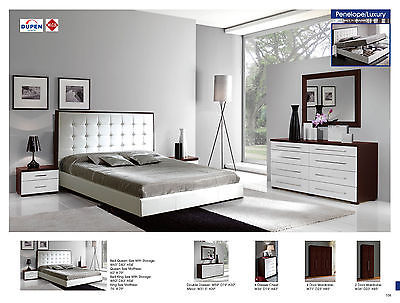 ESF 622 Penelope Bedroom Set King Storage Bed Modern Contemporary Made in Spain