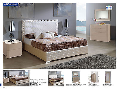 ESF 643 Trezado Bedroom Set with Storage Bed Modern Contemporary Made in Spain