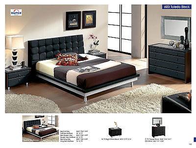 ESF 603 Toledo Bedroom Set Full Bed Modern Contemporary Spain