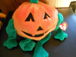 NEW PUMKIN the pumpkin  ~  TY Beanie Buddy Retired 1999 MWMT - $9.99