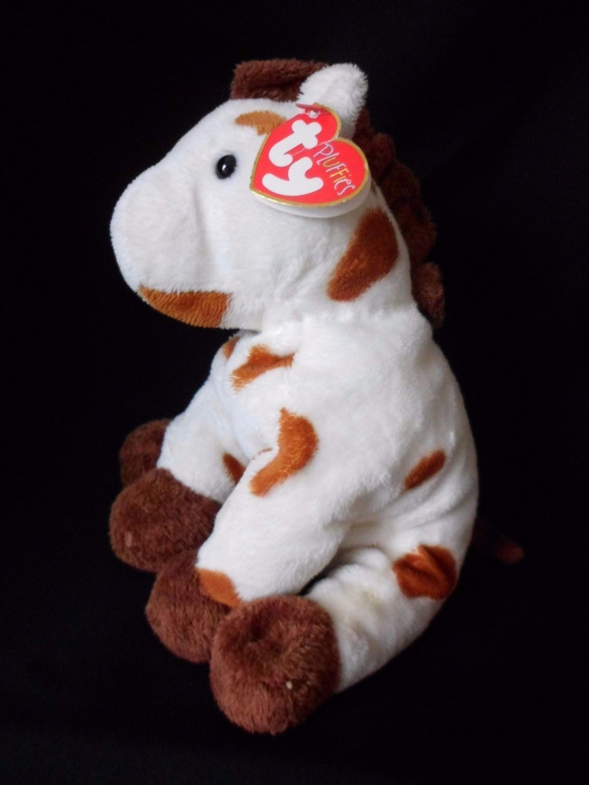 "Ty Pluffies Plush GALLOPS Pony HORSE Brown White Beanie Baby Stuffed  2005"" - $10.73"