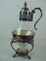 1978 Leonard Silver Plate Stand Lid 10 Cup Glass Carafe Coffee Tea Candl... - $39.55
