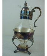 1978 Leonard Silver Plate Stand Lid 10 Cup Glass Carafe Coffee Tea Candl... - $35.96