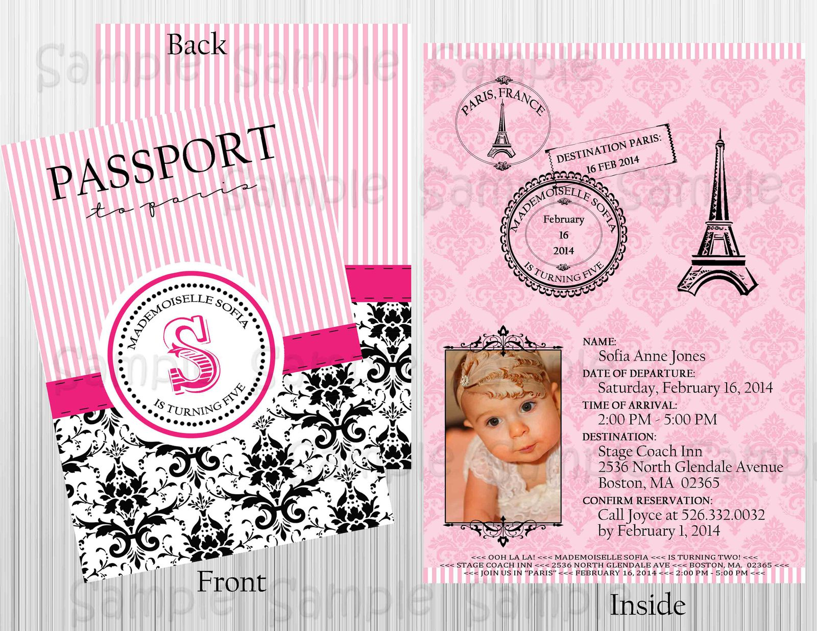 Passport to paris birthday or baby shower and similar items passport to paris birthday or baby shower custom invitation personalized filmwisefo Image collections