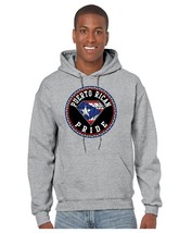 Puerto Rican Pride Men's Hooded Sweatshirt Country Pride Sweater - $26.00