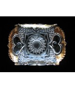 ANTIQUE EAPG Card Receiver Tray - HEART W/THUMBPRINT - $15.00
